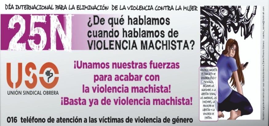 Manifiesto USO 25N Día Internacional para la Eliminación de la Violencia contra la Mujer