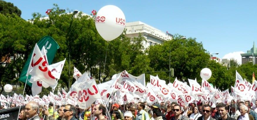 USO se desmarca de las movilizaciones convocadas por UGt y CCOO y anuncia actos reivindicativos propios