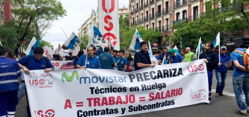USO exige la dignificación de los trabajadores de contratas y subcontratas