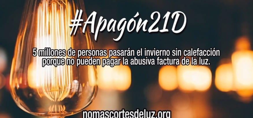 Contra los abusos de las eléctricas, #Apagón21D