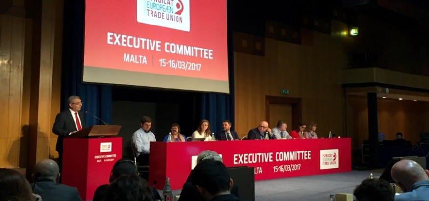 La CES defiende en su Comité Ejecutivo que la UE no puede construirse sin pilares sociales