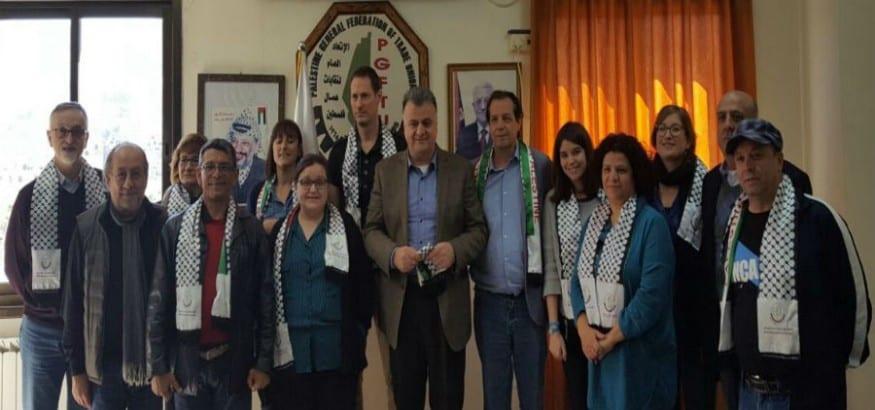 USO participó en la misión sindical internacional en Palestina