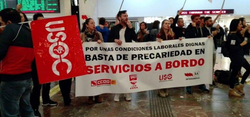 USO convoca nuevas jornadas de huelga en Ferrovial Servicios a Bordo