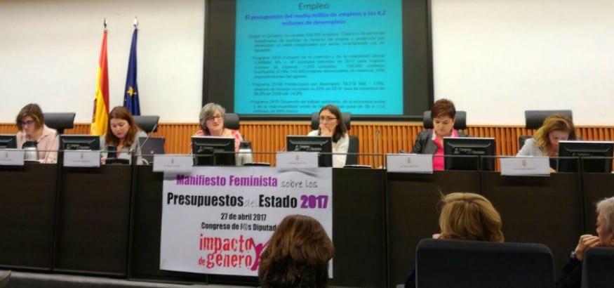 Presentación del manifiesto sobre los PGE de la Plataforma Impacto de Género Ya