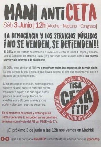 Mani Anticeta 3 junio Madrid