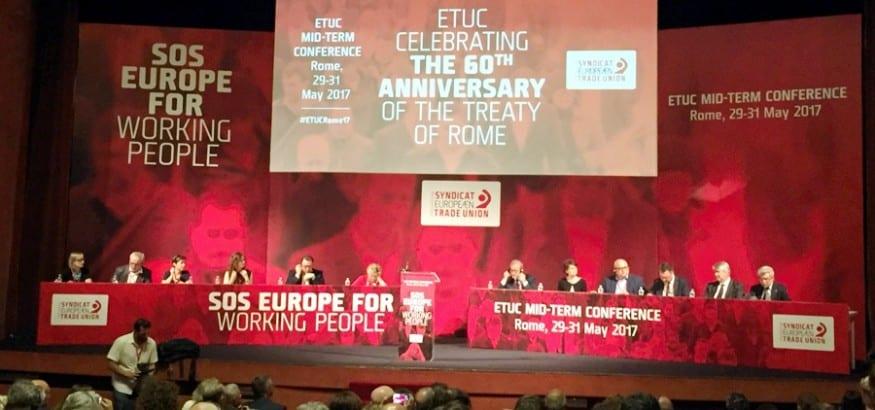 Conferencia de la CES: SOS Europa para los trabajadores