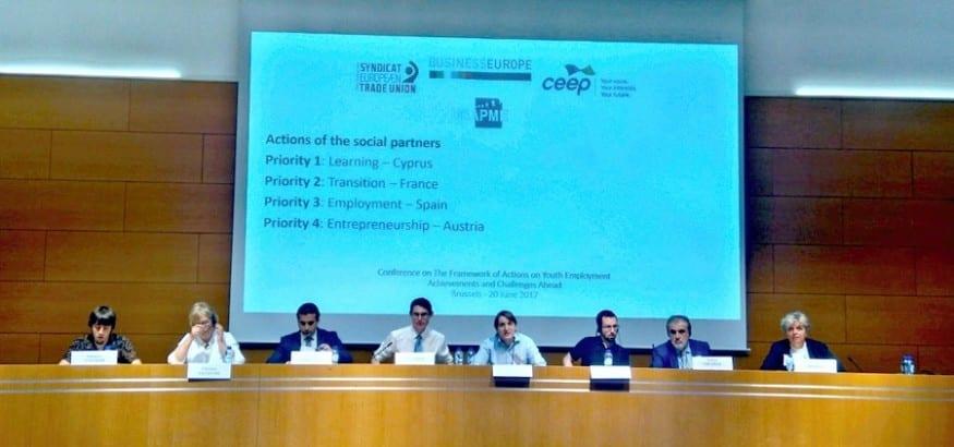 USO participa en la Jornada sobre empleo joven en Bruselas