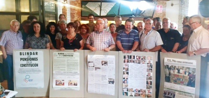 300 organizaciones lanzan el manifiesto 'Blindar las Pensiones en la Constitución'