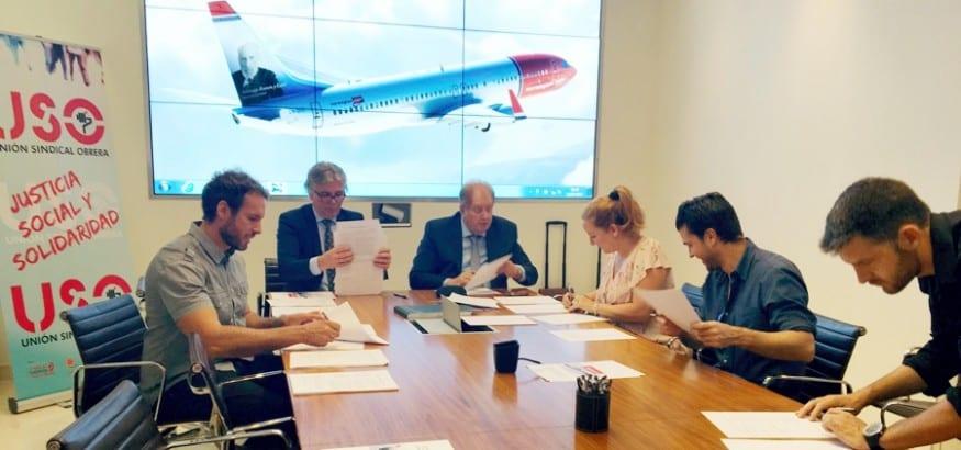 USO firma el I Convenio de Tripulantes de Cabina de Norwegian