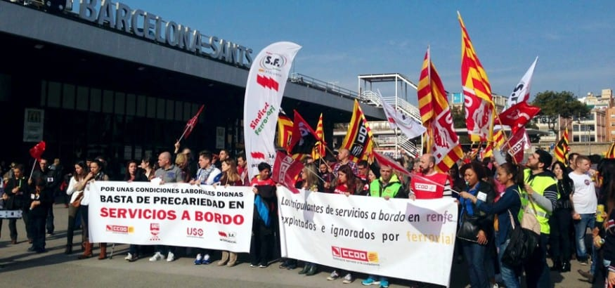 La huelga de los trabajadores de Servicios a Bordo del AVE fue legal