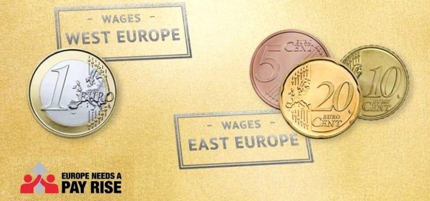 Continúa la brecha salarial entre el norte y el sur de Europa