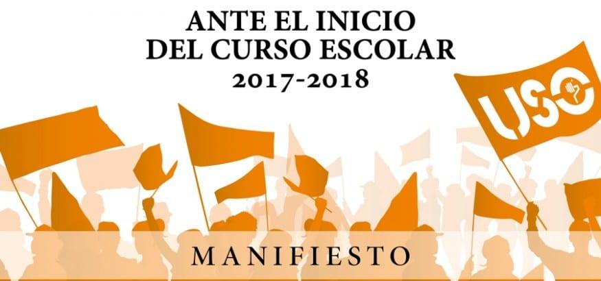 """Manifiesto de FEUSO """"Una escuela de calidad, gratuita y plural para todos"""""""
