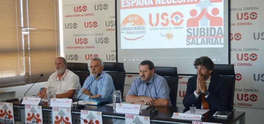 USO reivindica una verdadera subida salarial en España