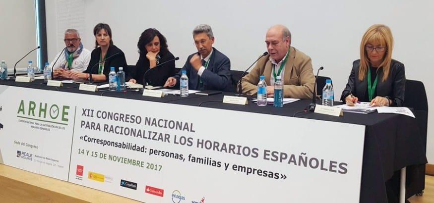 USO participa en el XII Congreso Nacional para racionalizar los horarios españoles