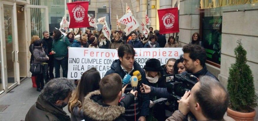 FS-USO denuncia las prácticas antisindicales de Ferrovial en el Hospital de Valdecilla
