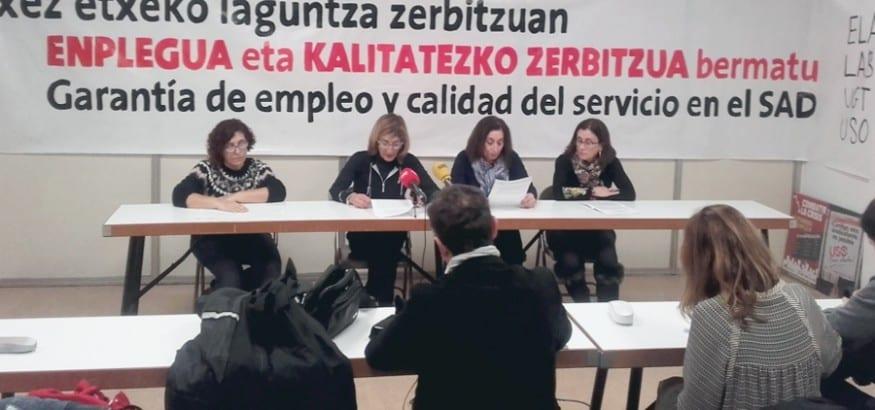LSB-USO convoca paros en el servicio de Ayuda a Domicilio en Bizkaia en defensa del sector