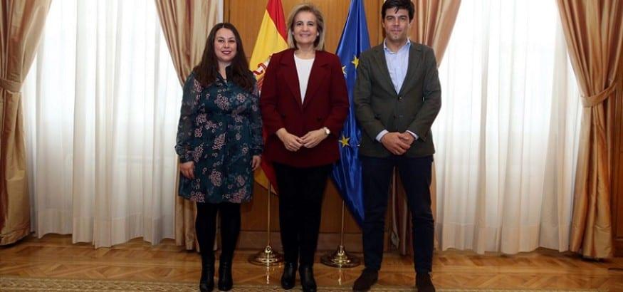 Fátima Báñez recibe al stario. gral. de USO, Joaquín Pérez, primera toma de contacto con la nueva CEC