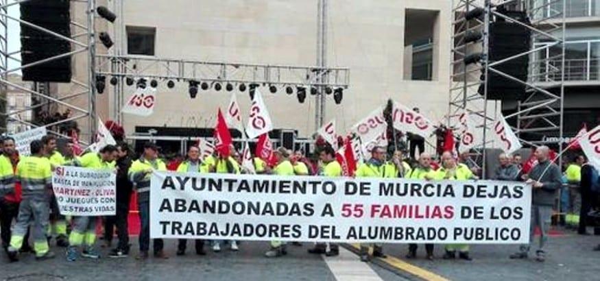 USO convoca huelga en el servicio de alumbrado del Ayuntamiento de Murcia