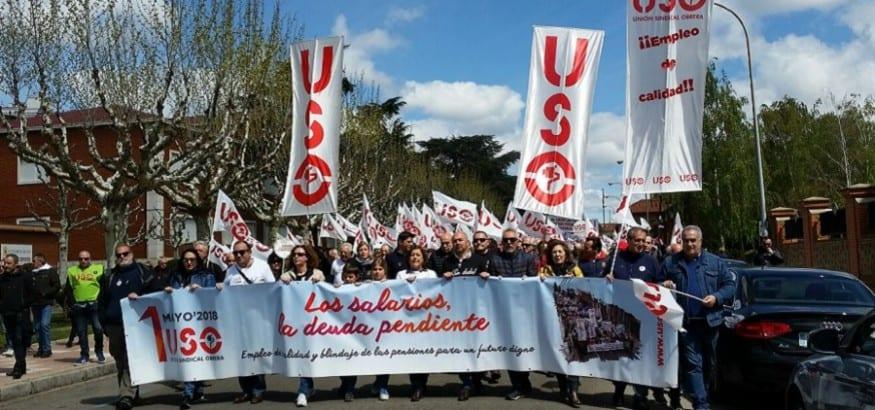 USO exige la recuperación de los salarios y las pensiones, la deuda pendiente de esta crisis