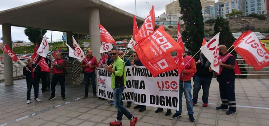 USO se concentra mañana en el Parlamento canario contra el bloqueo del convenio de Ambulancias