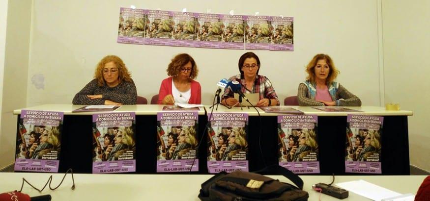 LSB-USO sigue la lucha en Ayuda Domicilio y convoca más paros en mayo