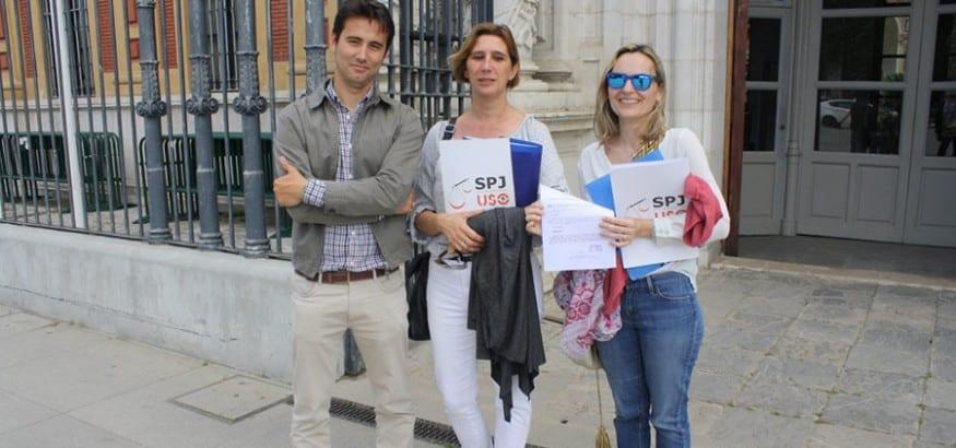 SPJ-USO-Andalucía entrega más de 5.000 firmas para solicitar las cantidades descontadas en 2013 y 2014