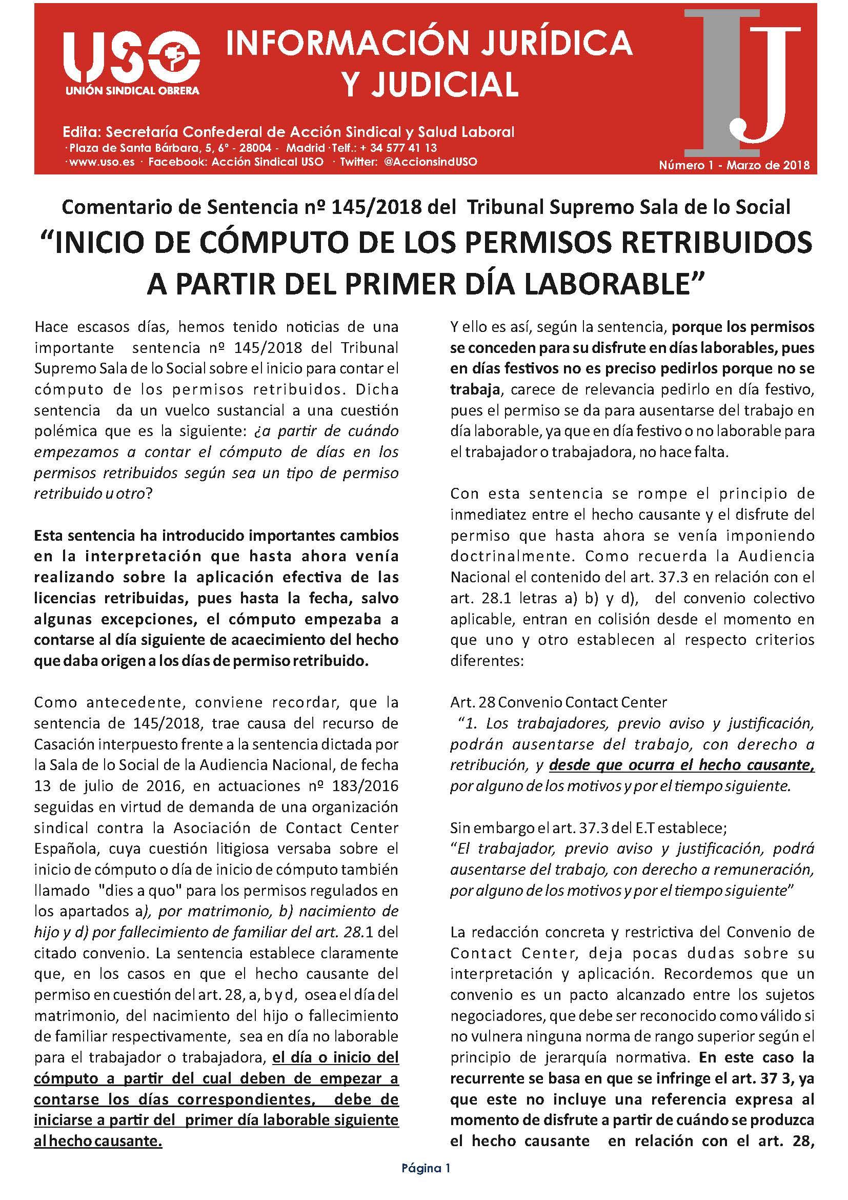 Información Jurídica y Judicial nº 1