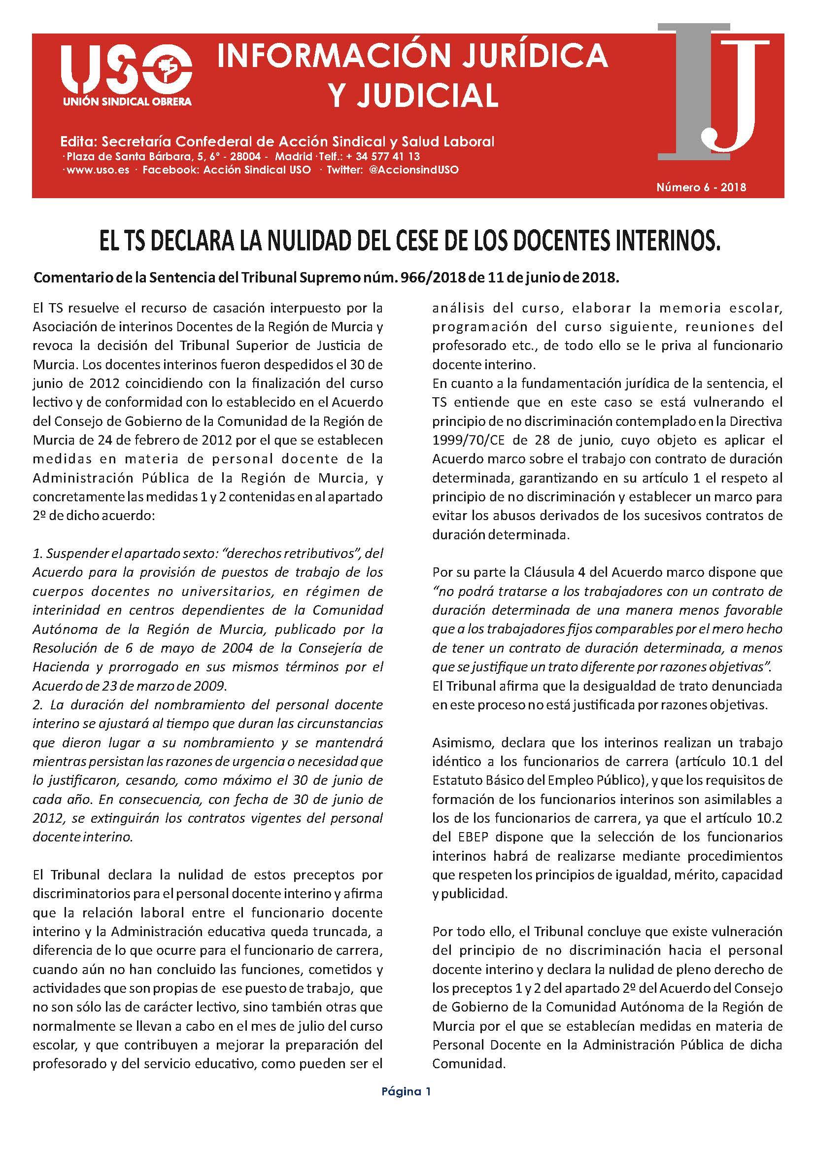 Información Jurídica y Judicial nº 6