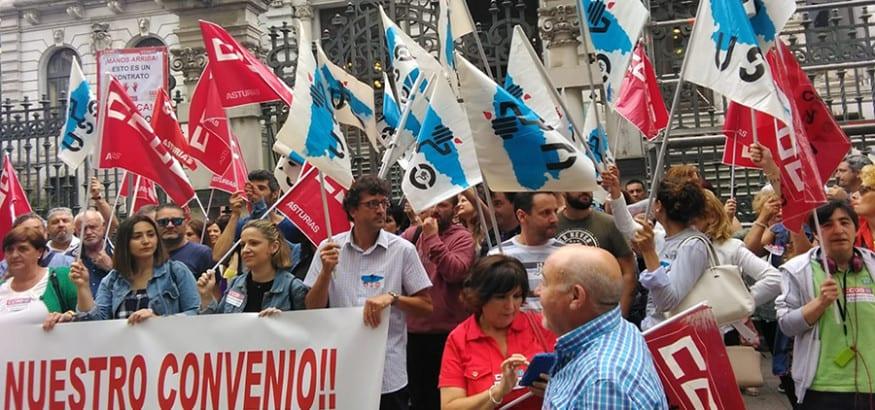 Los trabajadores de limpieza de Asturias, en huelga desde el 23 de octubre
