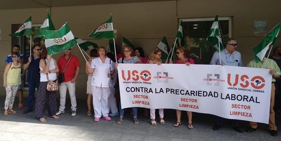 Nueva concentración de USO en el hospital de Jaén por la sobrecarga de trabajo y la inmovilidad empresarial