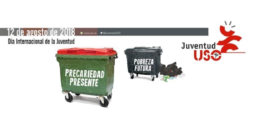 """""""Precariedad presente, pobreza futura"""", el lema de nuestro Día Internacional de la Juventud"""