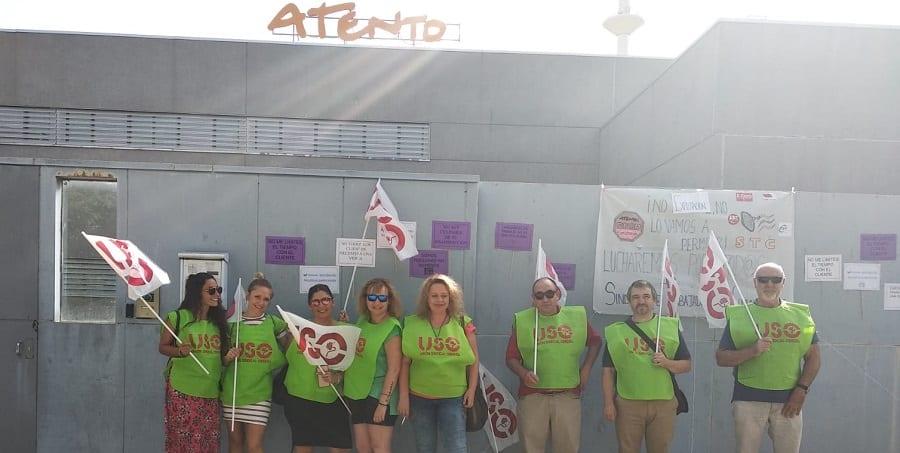 Éxito rotundo de la segunda jornada de huelga convocada por USO en Atento Toledo