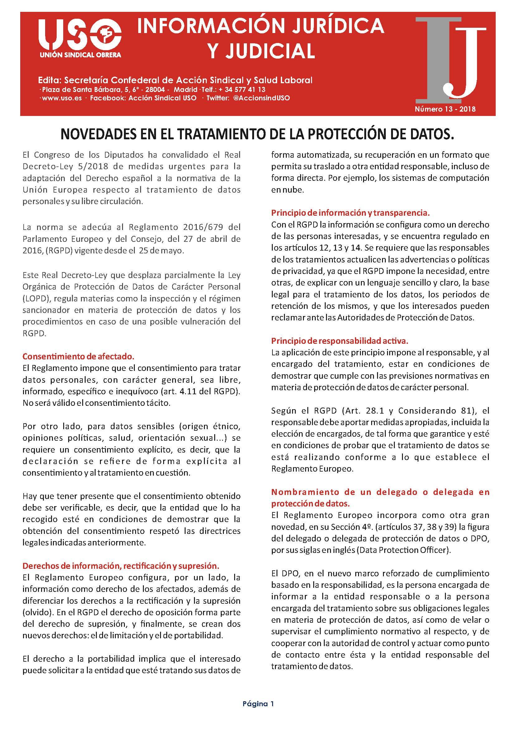 Información Jurídica y Judicial nº 13