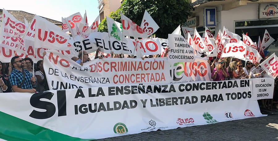 USO Extremadura apuesta por un cambio de actitud hacia la Concertada