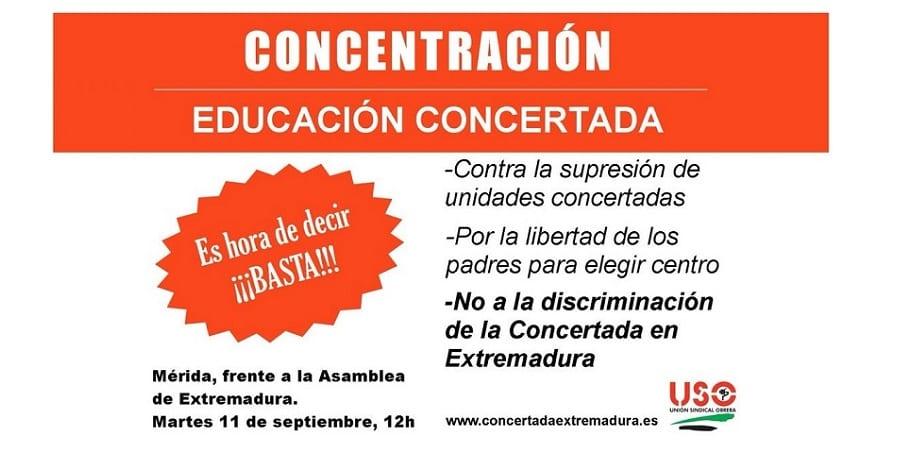 FEUSO Extremadura sale el martes a la calle contra los recortes en la Concertada