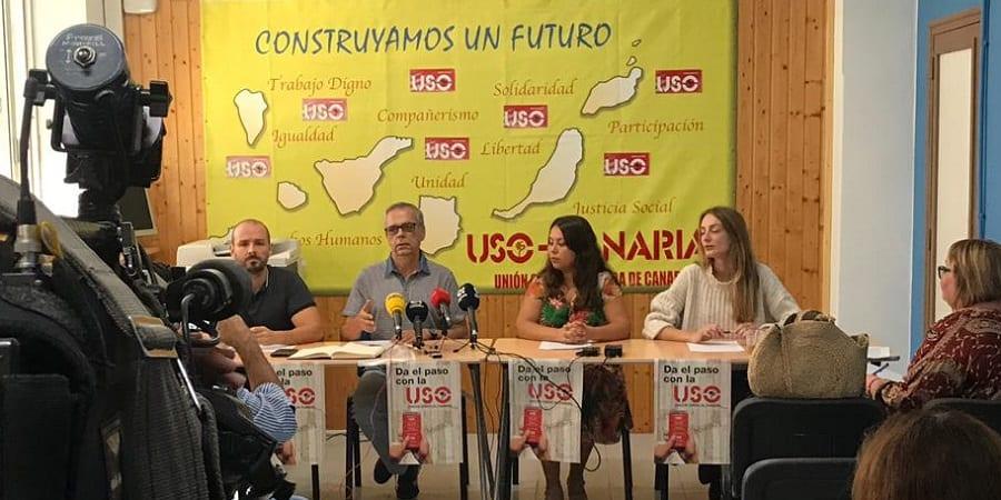 USO Canarias denuncia que seis de cada diez parados son de larga duración y hay más paro que en 2008