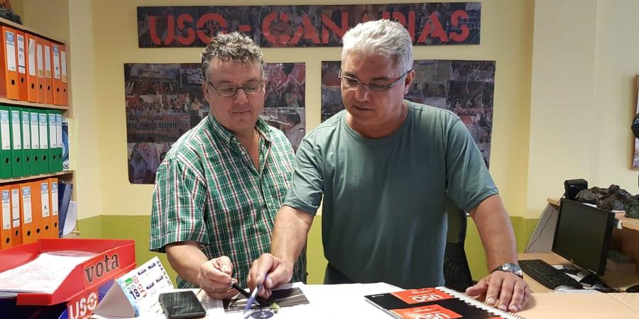 USO-Canarias se alegra de la mejoría del compañero herido en Santa Lucía y estudia medidas legales
