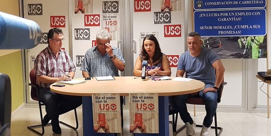 USO-Canarias traslada el pésame por el fallecimiento en accidente laboral de un compañero