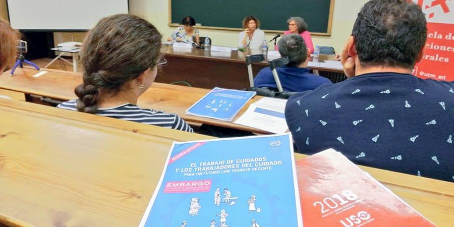 USO, en la jornada de diálogo de la OIT sobre el trabajo de cuidados