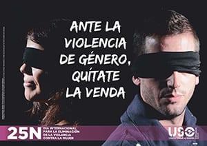 Ante la violencia de género, quítate la venda.