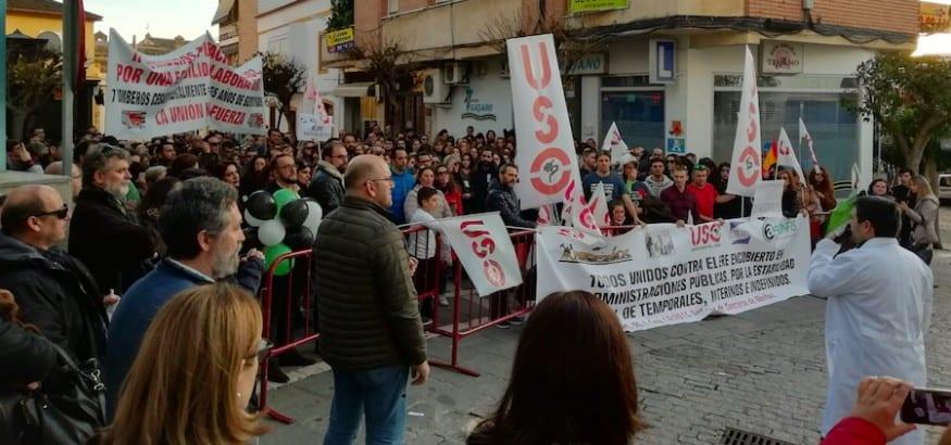 Concentración en Extremadura para exigir regularizar a temporales, indefinidos no fijos e interinos