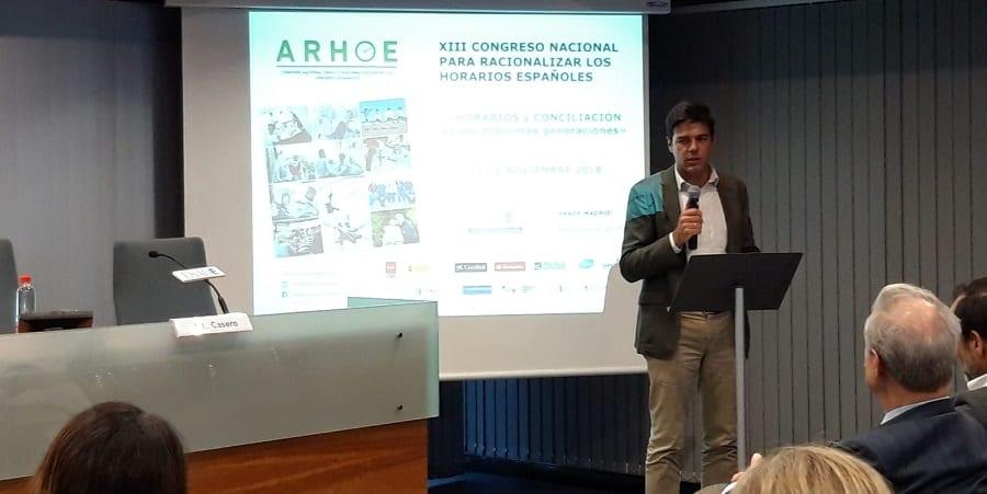 Joaquín Pérez recoge el accésit especial por el trabajo de USO en la racionalización de horarios