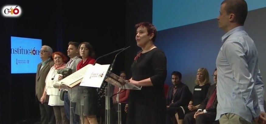 """La MERP, distinguida por la Generalitat Valenciana por su """"defensa de Derechos y Libertades constitucionales"""""""