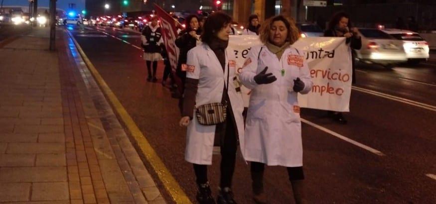 Primera jornada de huelga de las trabajadoras de ayuda a domicilio de Bizkaia