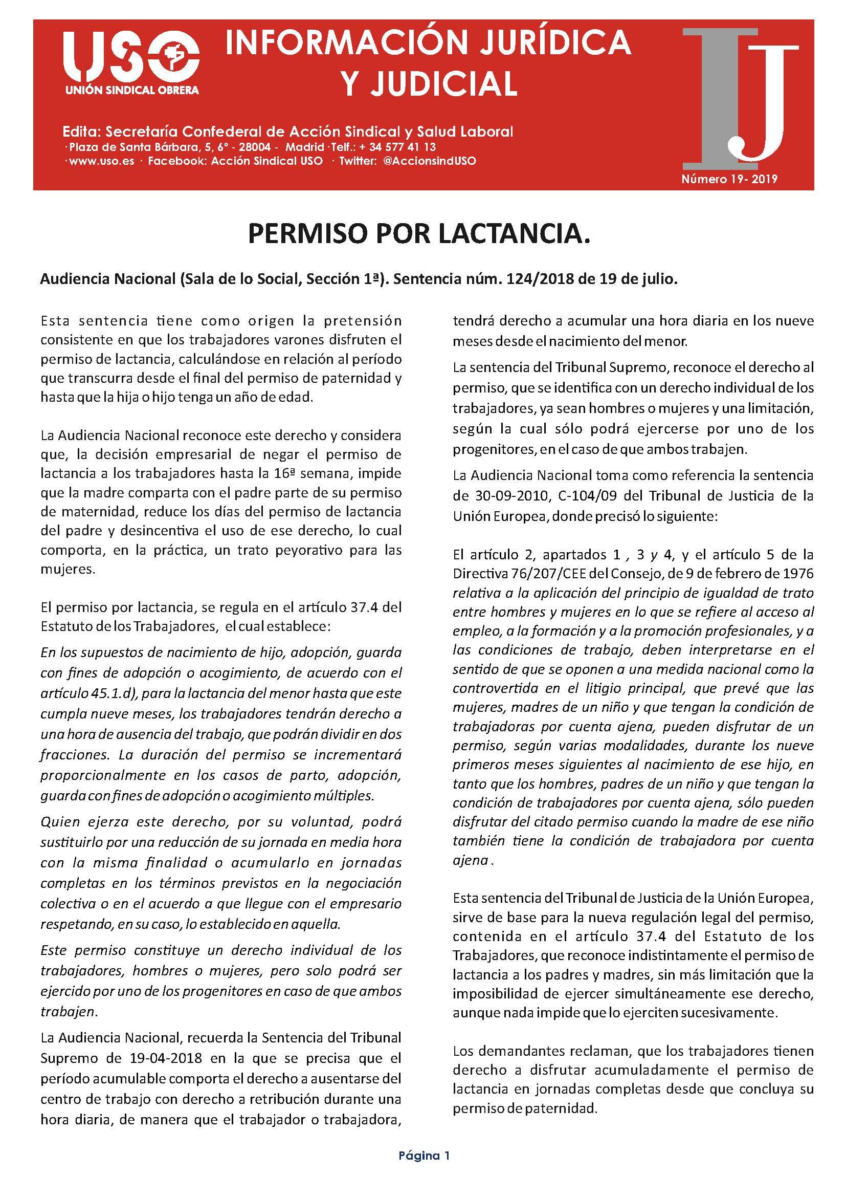 Información Jurídica y Judicial nº 19