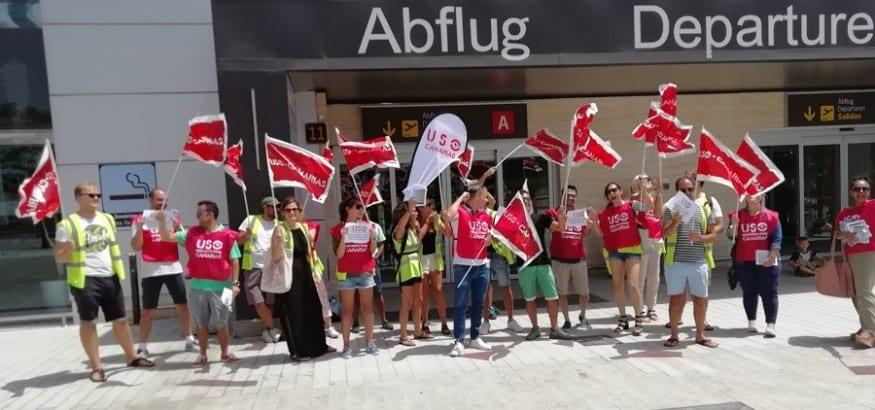 USO denuncia chantajes de Ryanair a la plantilla de las bases de Canarias antes de las nuevas huelgas