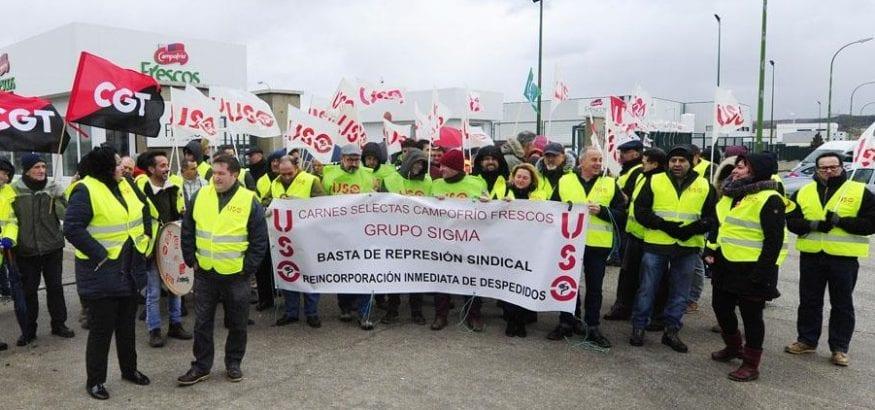 Primera concentración por Alfonso Callejo, que el 12 de febrero irá a mediación con Campofrío