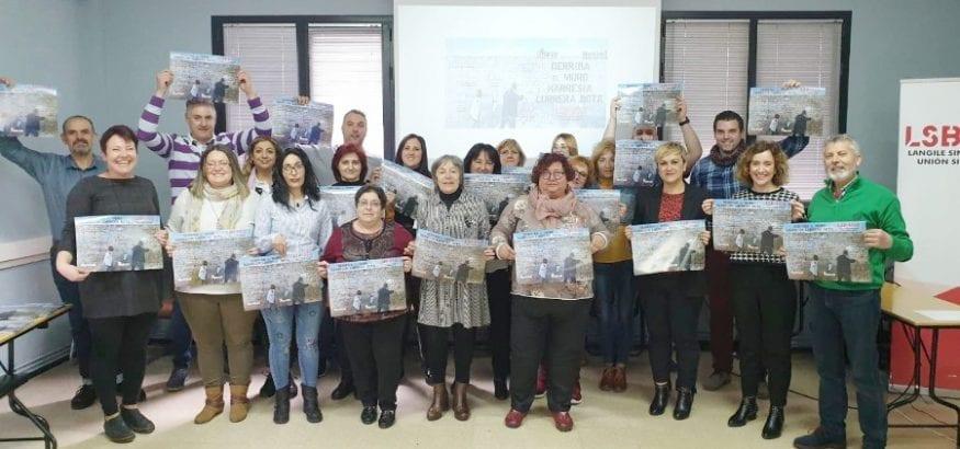 Sara García aborda la perspectiva de género en la Jornada Feminista de LSB-USO Euskadi