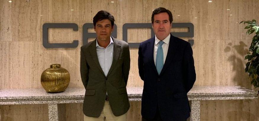 Joaquín Pérez se reúne con el presidente de la patronal CEOE