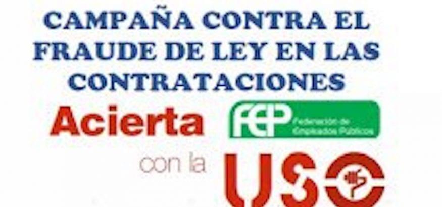 FEP-USO lanza una campaña contra el fraude de ley en las contrataciones temporales